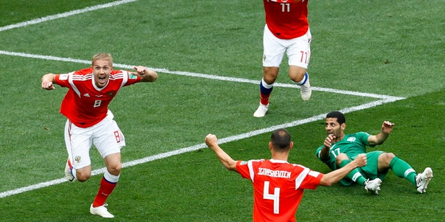 Russia beat Saudi Arabia 5-0 in the opening match of the World Cup.