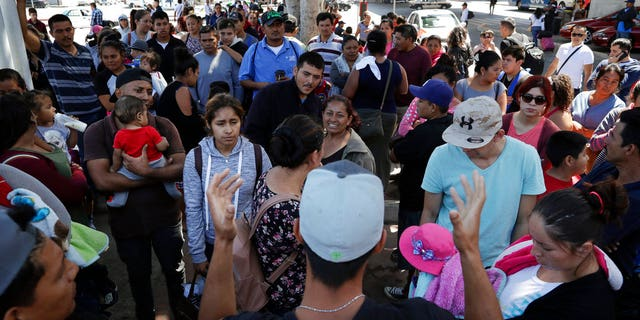 """In Tijuana, a jumping off point for refugees from around the world, President Trump's immigration policy is giving some second thoughts.  """"If this is true, I will go back. I don't want to be separated from my kids,"""" said a woman with three children who arrived here from the violent Mexican state of Michoacán."""