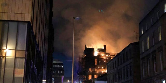 """Scottish Fire and Rescue Service deputy assistant Peter Heath said the fire was """"extensive"""" and affected every floor of the building"""