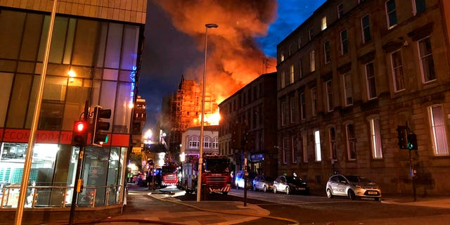 Glasgow famous School of Art has been devastated by a fire, the second such blaze in four years