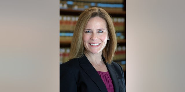 This 2017 photo provided by the University of Notre Dame Law School in South Bend, Ind., shows Judge Amy Coney Barrett. Barrett was one of many Trump nominees for the federal bench to face a significant amount of Democratic votes against her confirmation. (Notre Dame via AP)