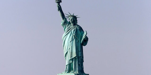 This file photo shows the original Statue of Liberty in New York, Jan. 21, 2018.