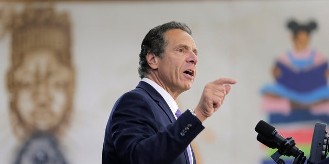New York Gov. Andrew Cuomo speaks at an event in the Brownsville section of Brooklyn on July 5.