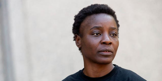 Therese Patricia Okoumou leaves federal court in Manhattan, New York, on Thursday, July 5, 2018.