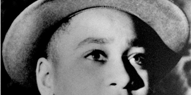 Undated file photo shows Emmett Louis Till, a 14-year-old black Chicago boy, who was kidnapped, tortured and murdered in 1955 after he allegedly whistled at a white woman in Mississippi.