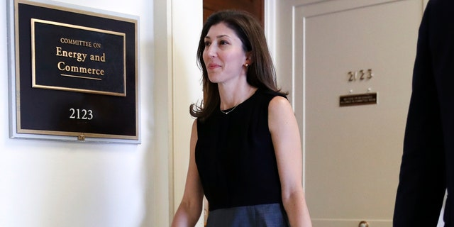 Former FBI lawyer Lisa Page arriving for a closed-door interview with the House Judiciary and House Oversight Committees on Capitol Hill in July 2018.
