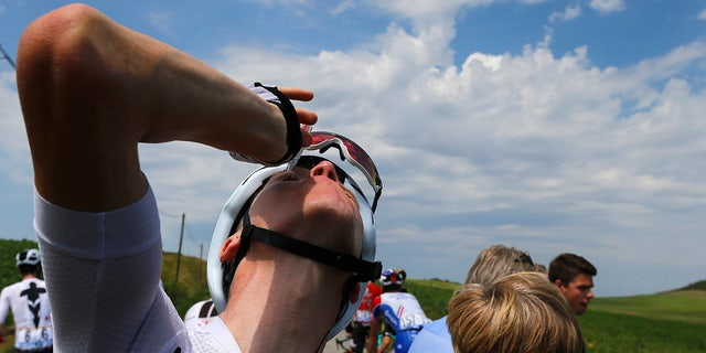 Four-time champion Chris Froome was among several riders who have had their eyes treated for tear gas or pepper spray sprayed on the peloton.