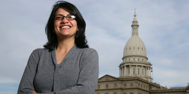 Rashida Tlaib interrupted a speech Donald Trump, then the Republican presidential nominee, gave in Detroit in 2016. She told him to read the U.S. Constitution before she was escorted out of the venue.