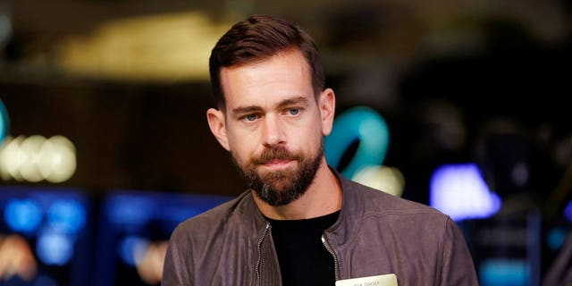 Twitter CEO Jack Dorsey is seen during a New York Stock Exchange.