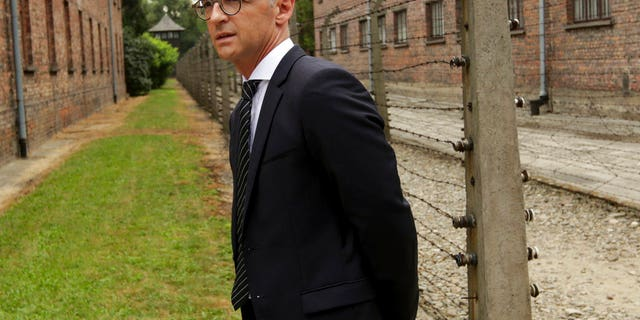 German Foreign Minister Heiko Maas visits the former German Nazi Death Camp Auschwitz on Monday