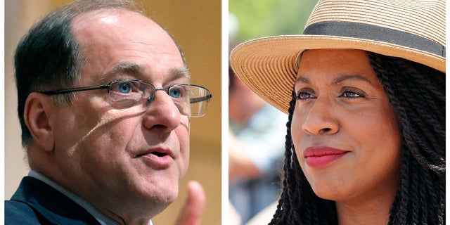 Boston city councilor Ayanna Pressley (right) is challenging incumbent Rep. Michael Capuano in the Democratic primary.