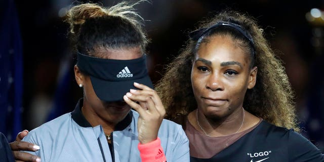 Serena Williams and Naomi Osaka after a controversial U.S. Open final.