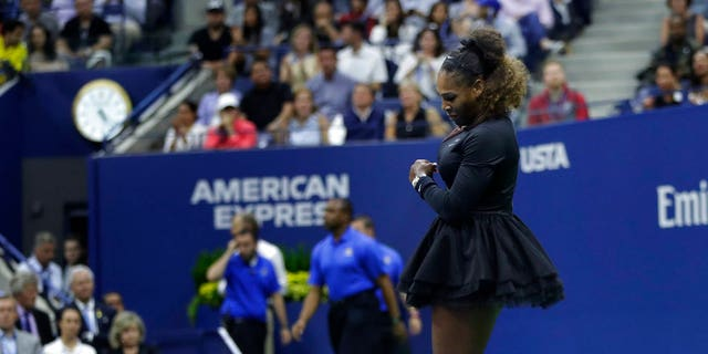 "Serena Williams received a second violation for ""racket abuse."""