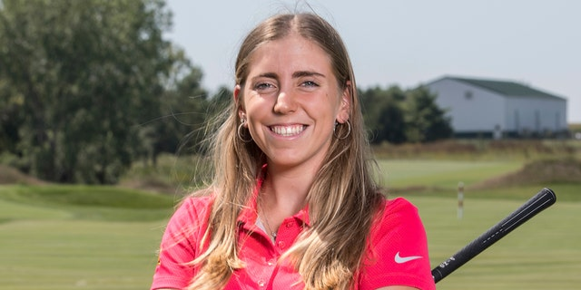 In this Sept. 7, 2017, photo provided by Iowa State University in Ames, Iowa, golfer Celia Barquin Arozamena poses for a photo.