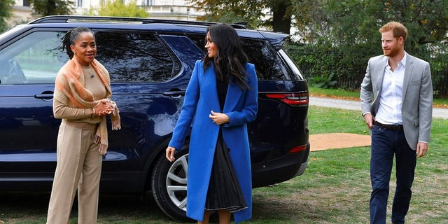 Markle and Prince Harry attended a reception at the launch of her cookbook with Markle's mother Doria Ragland.
