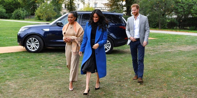 Meghan Markle's mother Doria Ragland made a surprise appearance at the lunch party.