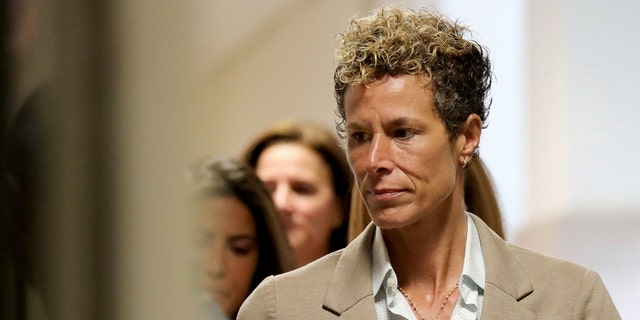 Andrea Constand arriving in court for Cosby's sentencing.