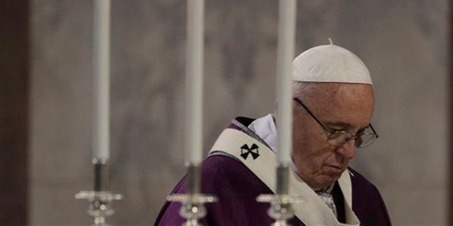 Pope Francis in Rome on Ash Wednesday.