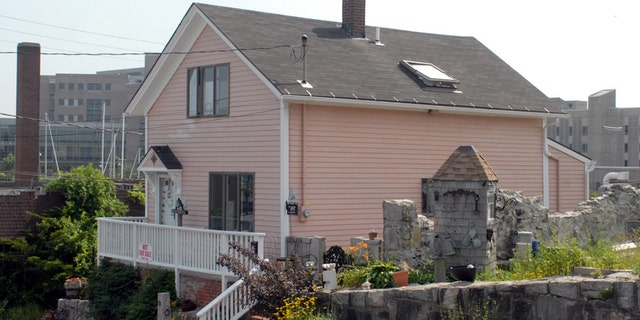 June 30, 2006: The home of Susette Kelo stands alone in the Fort Trumbull neighborhood of New London, Conn.