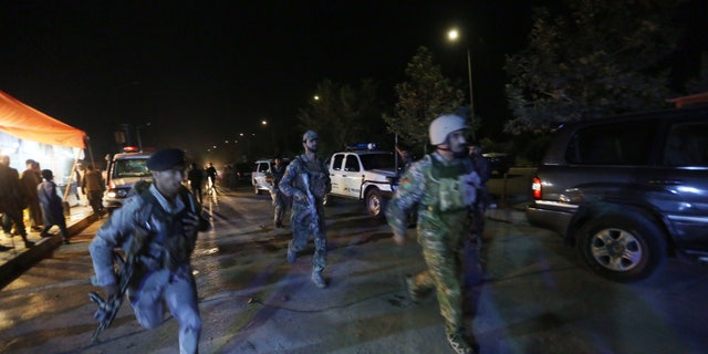 Afghan security forces rushing to respond to the attack.
