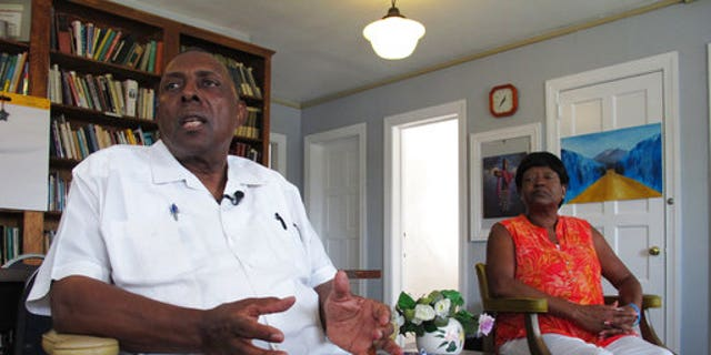 "Rev. Nelson Johnson and his wife, Joyce, talk about the 1979 ""Greensboro Massacre"" at his Faith Community Church in Greensboro, N.C., on August 16."