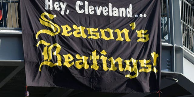 Pittsburgh Steelers fans had a special message for the Browns.