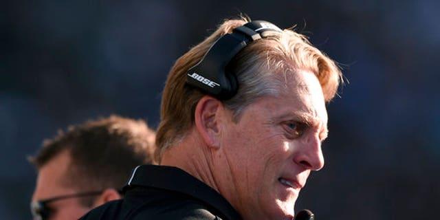 Oakland Raiders head coach Jack Del Rio was fired on Sunday.