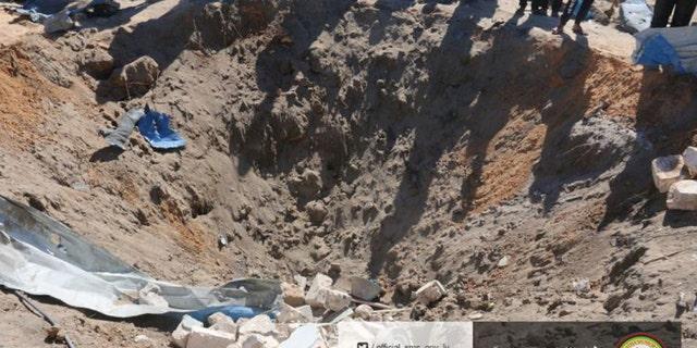 The site where U.S. warplanes struck an Islamic State training camp in Sabratha, Libya near the Tunisian border.