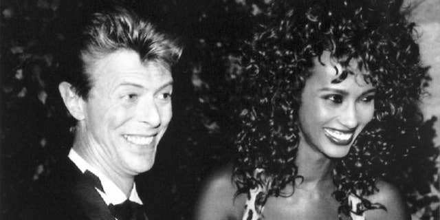 David Bowie and Iman in 1991. The couple married in Lausanne on April 24, 1992.