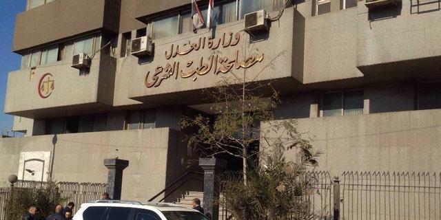 Cairo's central morgue where the body of Giulio Regeni was held Thursday.