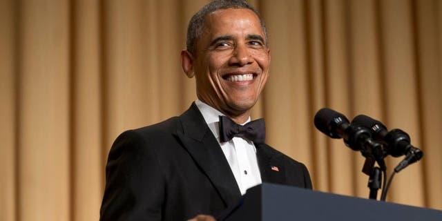 Former President Barack Obama at the White House Correspondents Dinner in 2016