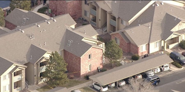 The Douglas County Sheriff's Office says five deputies were shot at an apartment community in Highlands Ranch, Colo.