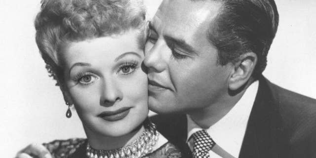 "Lucille Ball and then-husband Desi Arnaz were the stars of ""I Love Lucy."""