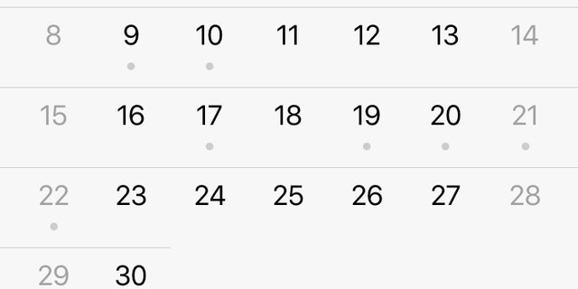 Easter Sunday is missing from iCal in iOS 11.2.5 for some users.