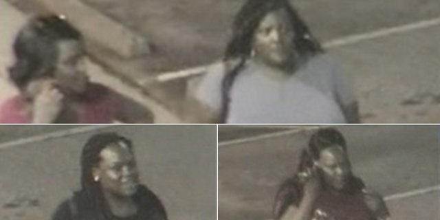 Images of the four women police are looking for.
