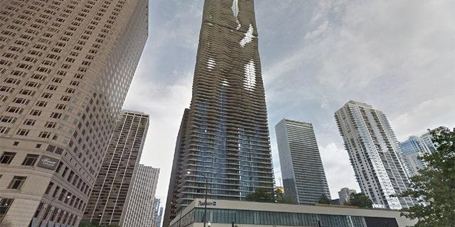 The Aqua skyscraper in Chicago, Ill.