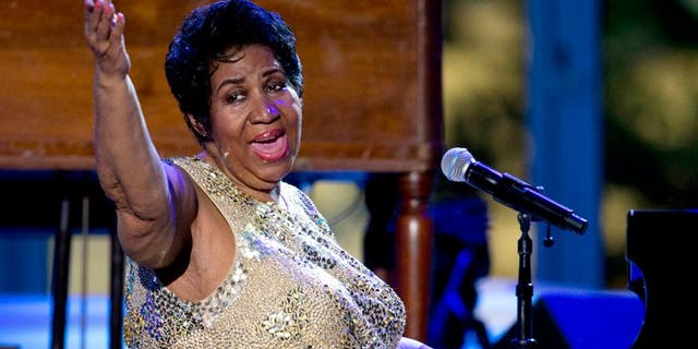 Aretha Franklin is 'alert' and resting at home, a family member reveals.