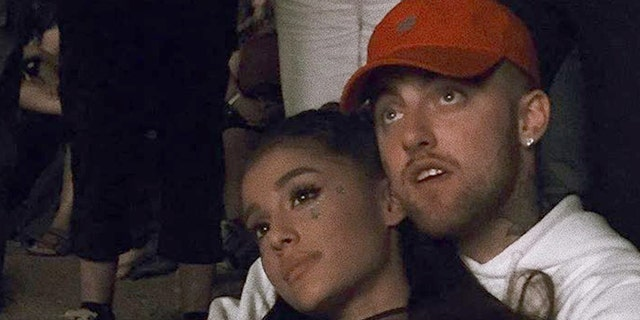 Grande with her ex-boyfriend Mac Miller, prior to their spring 2018 break up. Miller died of an apparent overdose on Sept. 7.