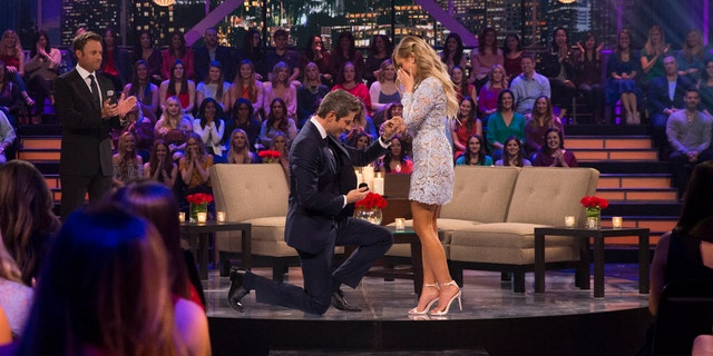 """Luyendyk proposes to Burnham on ABC """"After the Final Rose"""" special."""