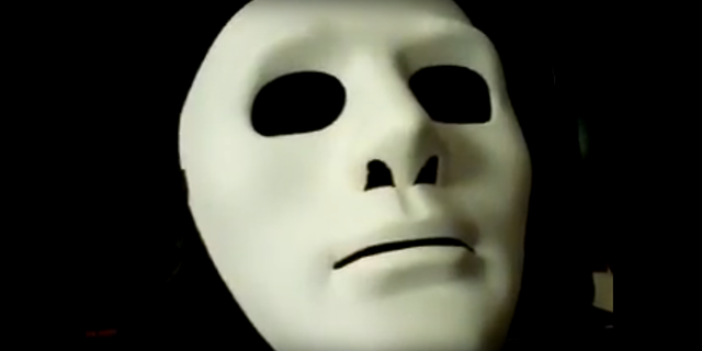 The videos that appeared to be made by Jones had featured a mask to hide his identity.