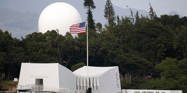 In this Dec. 27, 2016, file photo, USS Arizona Memorial, part of the World War II Valor in the Pacific National Monument, at Joint Base Pearl Harbor-Hickam, Hawaii.