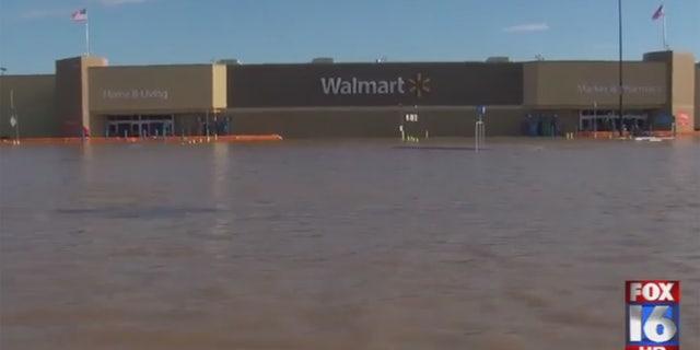 Flooding in Pochahontas, Arkansas.