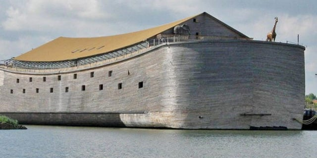 Converted from cubits to feet, the ark's dimensions are about half the size of the one descrribed in the bible.