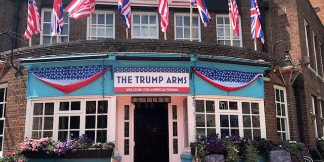 The Trump Arms is celebrating President Trump's visit.