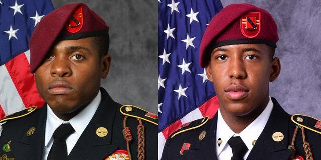 U.S. Army, Sgt. Roshain E. Brooks (L) & Sgt. Allen L. Stigler Jr.(R)