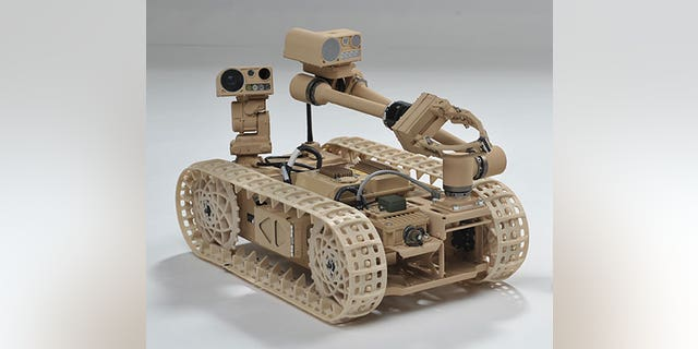 "Researchers have been exploring ""self-righting"" techniques using the Advanced Explosive Ordnance Disposal Robotic System (AEODRS). (Photo Credit: Courtesy Northrop Grumman Corporation)"