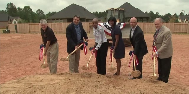 Medically-retired U.S. Army Sergeant Demitra Jarrett couldn't contain her tears after learning she was being gifted with a home.