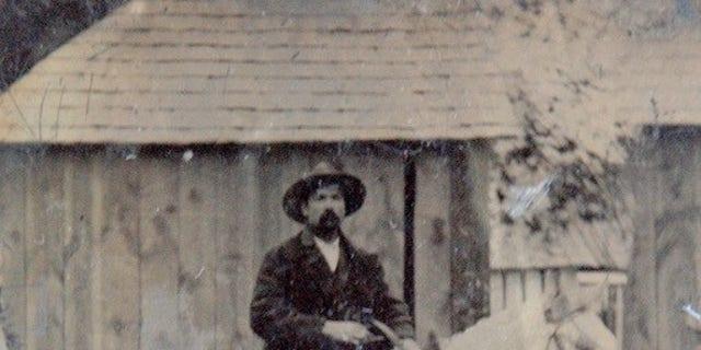 The tintype photograph of Pat Garrett's friend Ash Upson (Frank Abrams)