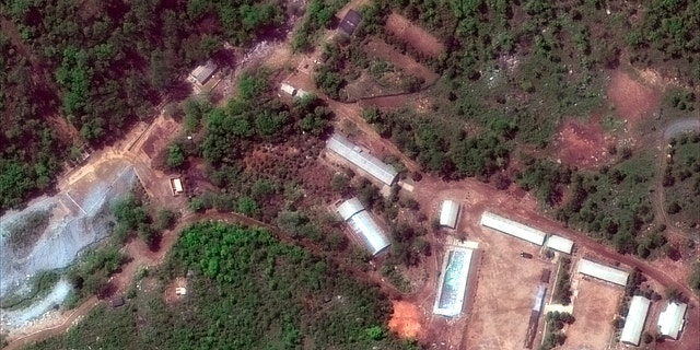May 23, 2018: Satellite file image provided by DigitalGlobe, shows the Punggye-ri test site in North Korea.