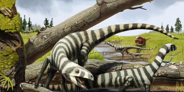 An artist's rendering of the Asilisaurus kongwe (Andrey Atuchin).